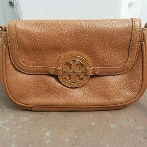 Tory Burch Brown Pebble leather crossbody
